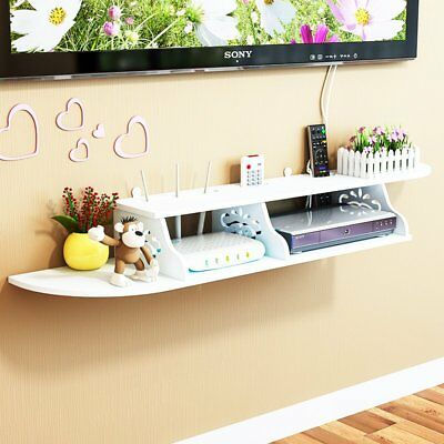 Floating Shelves Chic Wall Mount for CD DVD TV Controller Book Display Storage