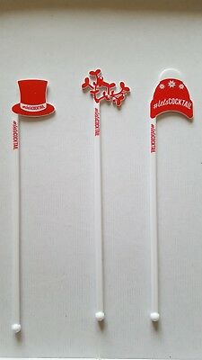 15 Christmas Cocktail Stirrers 3 designs (5 of each design)