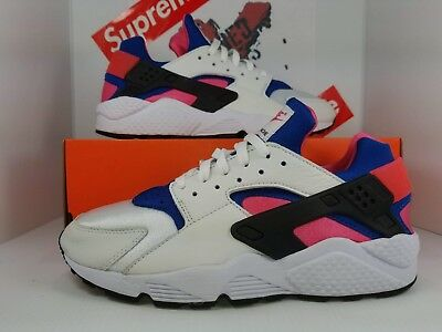 9a6435ec984 NIKE AIR HUARACHE  91 OG White Royal Pink AH8049-100 LIMITED DS ...