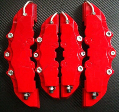 3D Red 4 PCS Style Car Universal Disc Brake Caliper Covers Front & Rear NEW