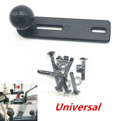"""Black 1"""" Ball Motorcycle Handlebar Cylinder Pump Cap Mount for Cell Phone Camera"""