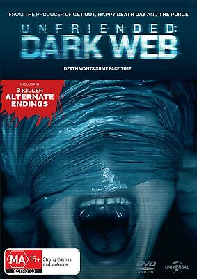 Unfriended Dark Web DVD Region 4 NEW