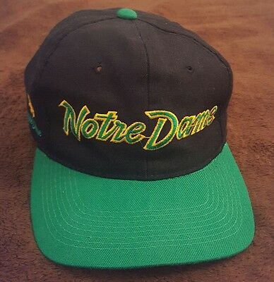 Vintage University of Notre Dame Fighting Irish Official Snapback NCAA 1980s 80s