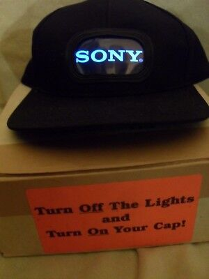 Light Up SONY Glow Cap Sample From 1997- Unique