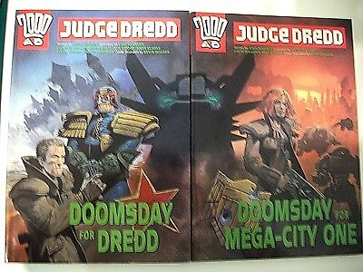 Judge dredd 2000AD Doomsday for Dredd and Mega-city One graphic novels