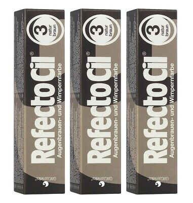 3 er Pack RefectoCil 3 Braun 15ml Wimpernfarbe