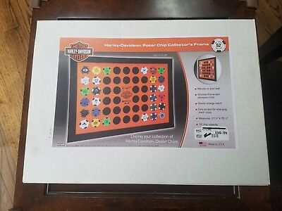 Harley-Davidson New Collector Poker Chip Display Case - 52 Chip Capacity 6952