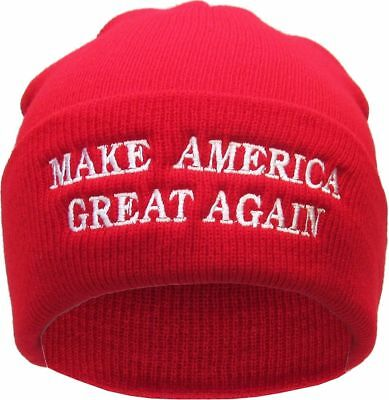 Warm Hat MAGA Winter Knit Beanie Trump Make America Great Again In Red 90010d751b9