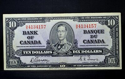 1937 $10 Bank Of Canada Note ✪ Au Almost Uncirculated ✪ P-61-B L@@k ◢Trusted◣
