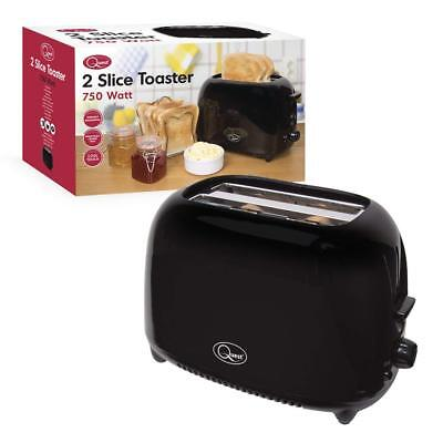 Quest 34280 Classic 2-Slice Toaster, 750W, Black Compact
