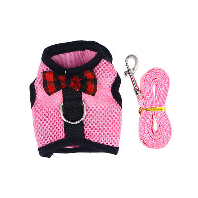 1PC Cute Lovely Breathable Mesh Harness With Leash for Guinea pig Rabbit Hamster