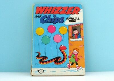 Vintage Whizzer and Chips Annual 1986 Childrens Books Fleetway