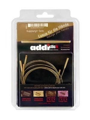Addi-Click Set of 3 Cords & 1 Connector for Bamboo & Olive Wood Interchangeable