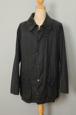 BARBOUR Beaufort WAXED Jacket Navy Size 48 XL