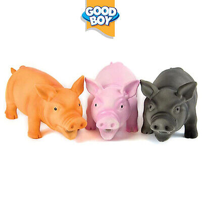 Good Boy Doggy Dolittle Rubber Pig Realistic Oink Sound Dog Toy