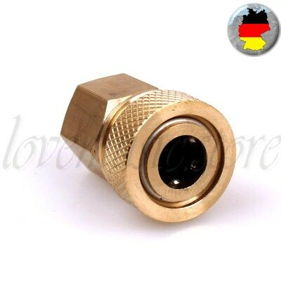 Schnellkupplung PCP Paintball Quick Coupler Connector Quick Copper M10 Gewinde
