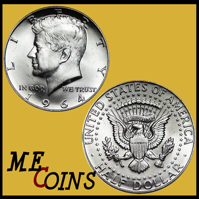1964-D Kennedy Half Dollars BU UNCIRCULATED , US Mint Coin!