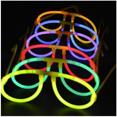 10 Glow in the Dark Glow Glasses Sets, Neon Glow Sticks Glosticks for Parties