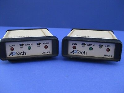 Aptech AP7350 Annunciator, Lot of 2 used on ICCI Bruce Furnace Flow Switch
