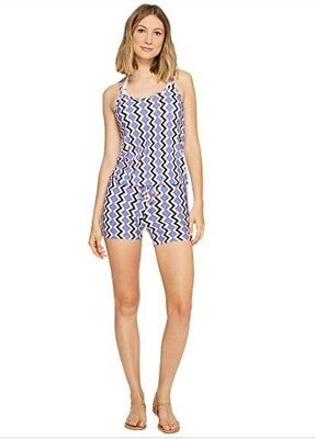 7c627257a4 NWT Splendid Women's Sz Medium Beach Romper Cover Up Chevron Print Astoria
