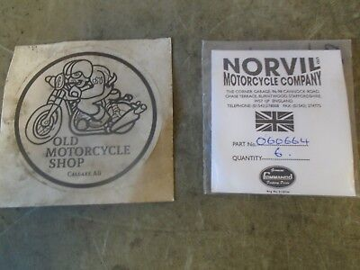 "Norton Commando 0.036"" Alternator Rotor Shim Pack Of 6 Oem 06-0664"