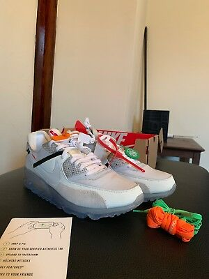 8b4247a02 NIKE AIR MAX 90 OFF WHITE THE 10 SIZE 12 NEW VIRGIL ABLOH AM90 100 ...