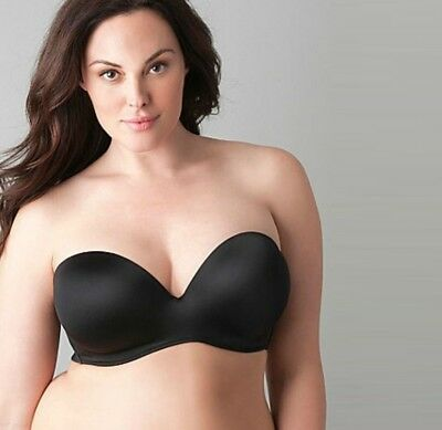 f24eefdffc1c8 E20 CACIQUE Multi Way Boost Strapless Plunge Bra Black LANE BRYANT 44DD