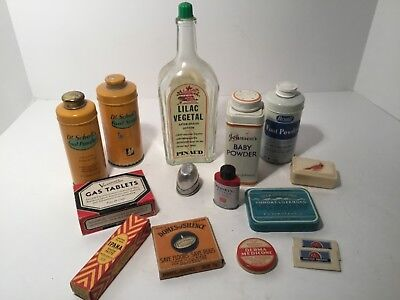 VINTAGE TINS & Packages, Farmhouse, General Store, Lot of 14, Gas Tablets  Powder