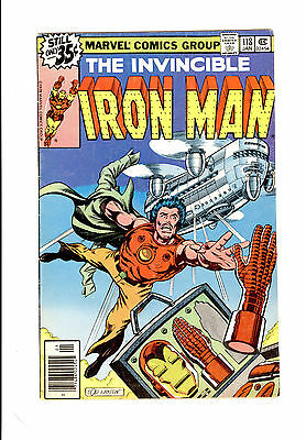 IRON MAN  # 118 1st Appearance of Jim Rhodes VF