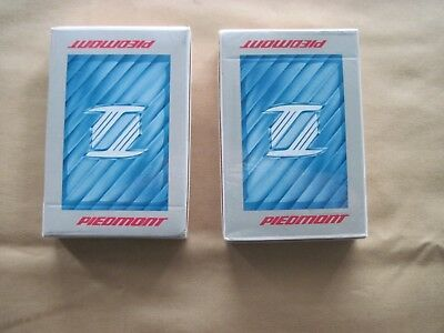 TWO VINTAGE PACKS of PIEDMONT AIRLINES PLAYING CARDS - Sealed