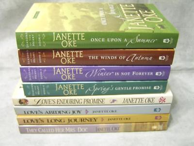 S184 Janette Oke Seasons of the Heart Series They Call Her Mrs Doc 8 Book Lot