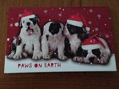 Set of 6 American Bulldog Christmas Cards + Red Envelopes