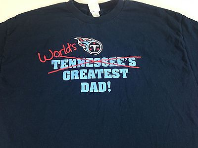 Tennessee Titans T-Shirt World s Greatest Dad Mens 2XL Cotton Blue NFL  Football 1a7860746