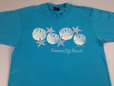 Panama City Beach T-Shirt VTG 1989 Adult XS-M Florida Sand Dollar Starfish 80s