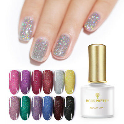 BORN PRETTY Holographic Glitter UV Gel Polish 6ml Laser Shimmer Nail Gel Varnish