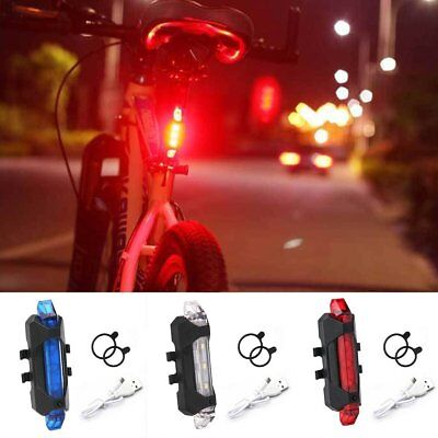 5-LED USB Rechargeable Bike Bicycle Tail Light Cycling Warning Rear Safety Lamp