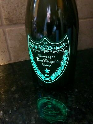 RARE Empty Dom Perignon Luminous Light-Up Champagne Bottle Vintage 2006 750ml