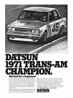 1972 DATSUN 510 #101663 Vintage Car Poster Print Ad Art Wall Parts Manual