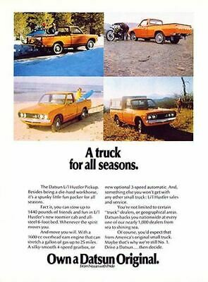 1973 Datsun Li'l Hustler Pickup #101857 Vintage Car Poster Print Art Sign Wall