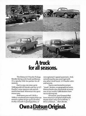 1973 Datsun Li'l Hustler Pickup #101859 Vintage Car Poster Print Art Sign Wall