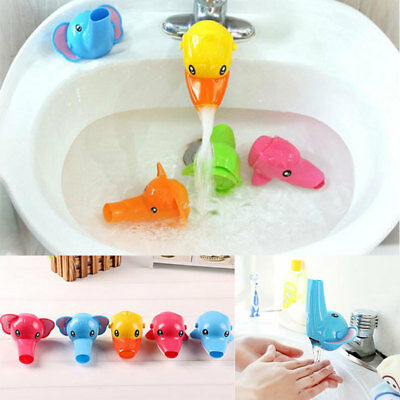Kid Toddler Baby Faucet Extender Washing Hands Bathroom Sink Lovely Cartoon