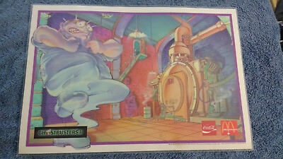 Ghostbusters II Place Mat 1989 Canada McDonalds Coca Cola Ghost