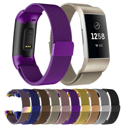 Magnetic Milanese Loop Stainless Steel Metal Mesh Band Strap For Fitbit Charge 3