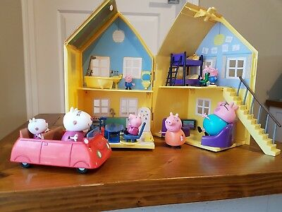 Pepper Pig House, Car and Family