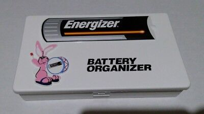 Energizer Battery Organizer Storage Box Container Tray Flip Lid