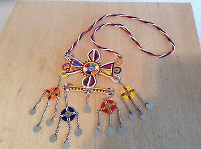 African-Arena Maasai Masai Beaded Moran Tribal Warriors Necklace Jewelry AA825