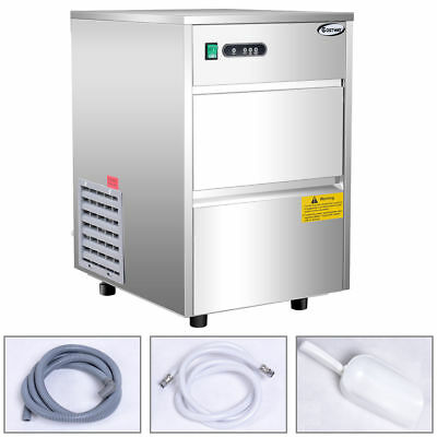 Costway Automatic Ice Maker Stainless Steel 58lbs/24h Freestanding Commercial Ho