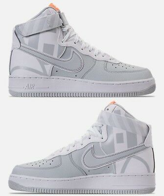NIKE AIR FORCE 1 HIGH '07 LV8 MEN's CASUAL MATTE SILVER - SUMMIT WHITE NEW US SZ