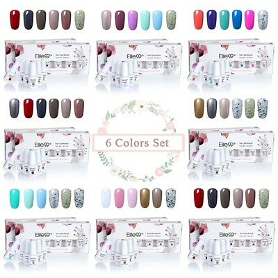 Elite99 Soak Off Gel Nail Polish 6 Colors Varnish Lacquer Manicure Art US STOCK