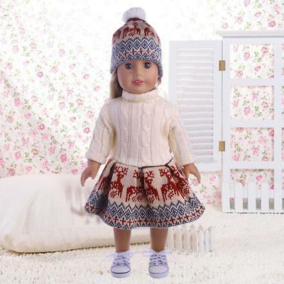 For 18 Inches  Girl Our Generation Doll Sweater Dresses Hat  Set